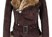 buckled-pu-leather-coat-with-fur-brims